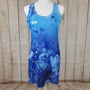 Guy Harvey Parrot Tropical Floral Tank Top